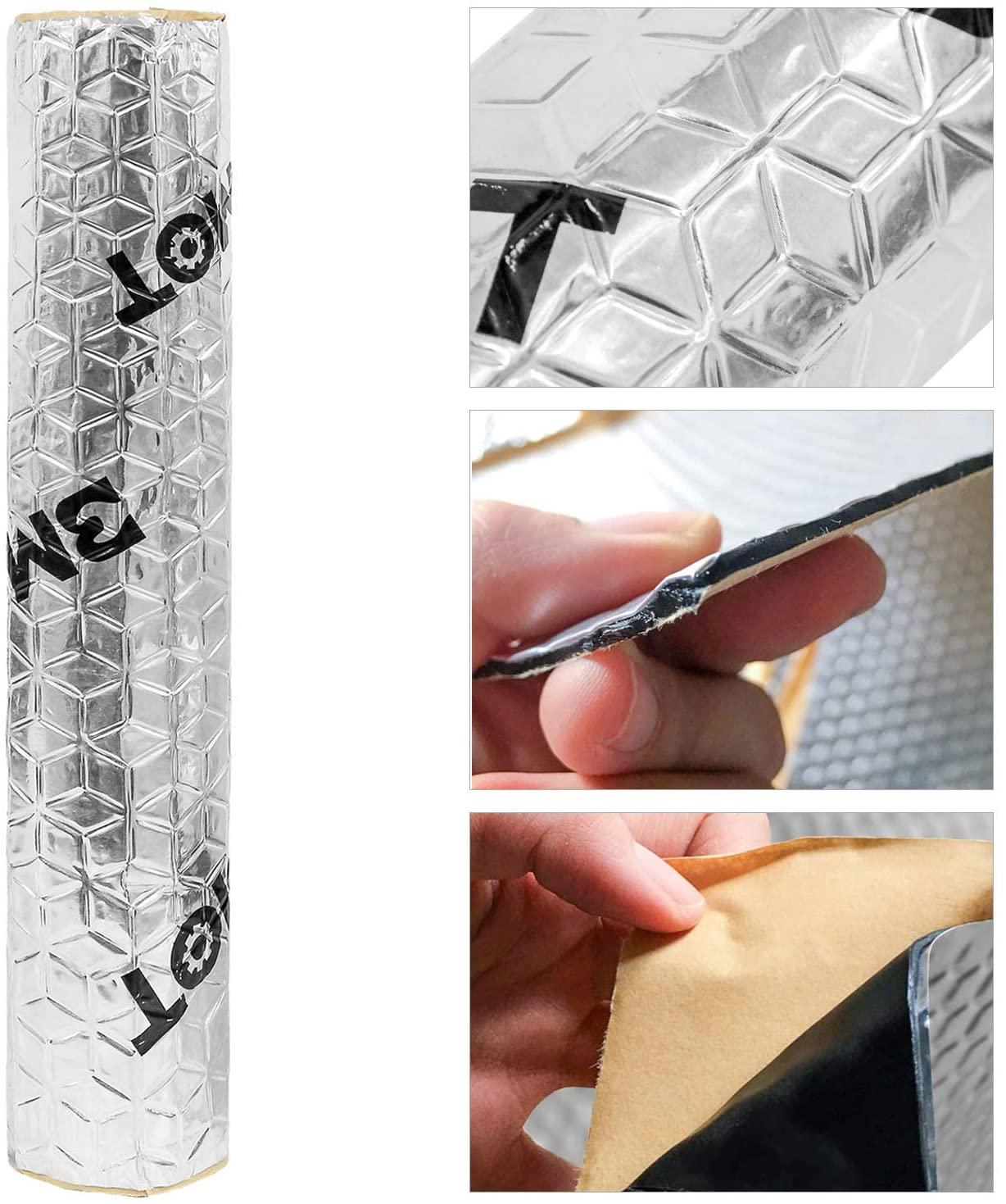 Bild zu 1 qm wolketon 2 mm Alubutyl Anti-Dröhn Fahrzeugdämmung für 12,59€