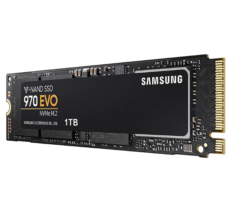 Bild zu SAMSUNG NVMe SSD 970 Evo, 1 TB, SSD, intern für 119,90€ (VG: 131,59€) + 10€ Newslettergutschein