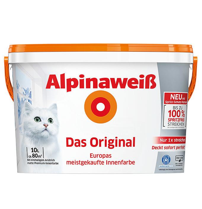 Bild zu Alpinaweiß Das Original 10l Eimer für ca. 80m² Fläche für nur 25€ (VG: 48,69€)