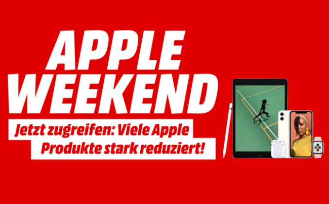 Bild zu MediaMarkt: Apple Weekend – viele Apple Produkte zu stark reduzierten Preisen – z.B. APPLE HomePod Smart Speaker für 269€ (VG: 298,18€)