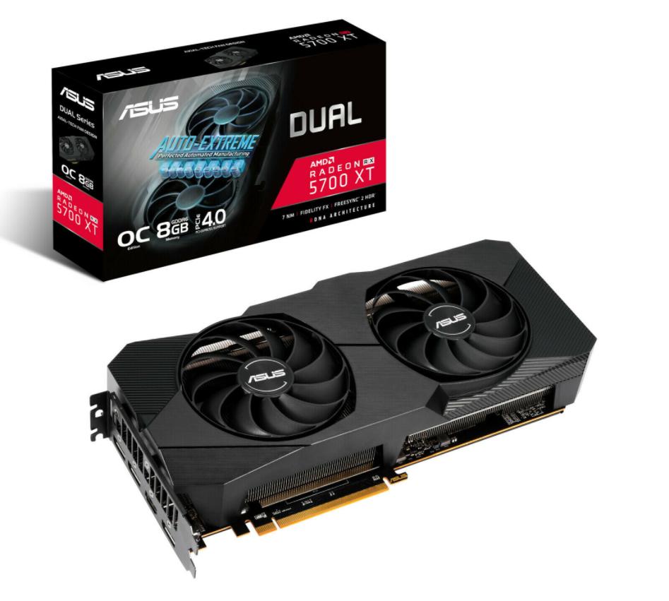 Bild zu ASUS Radeon Dual RX 5700 XT O8G EVO Grafikkarte für 339,20€ (VG: 379,88€)