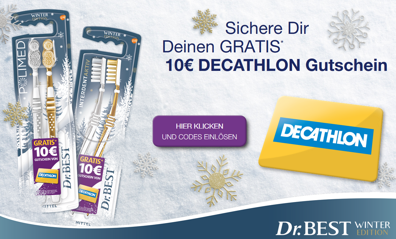 Bild zu Zwei Dr. Best Aktionsprodukte kaufen und einen 10€ Decathlon Gutschein erhalten