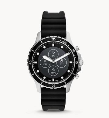 Bild zu Fossil HR FB-01 Hybrid-Smartwatch mit Silikon-Armband für 97,30€ (VG: 194€)
