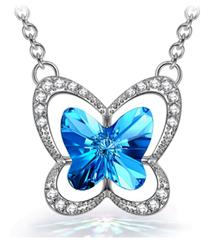 Bild zu [bis 23:20 Uhr] Susan Y Damen Halskette Schmetterling mit Kristalle von Swarovski und Schmuckkästchen für 9,99€
