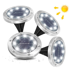 Bild zu 4er Pack AMBOTHER Solar Bodenleuchten (6000K Kaltweiß, IP65) für 13,92€