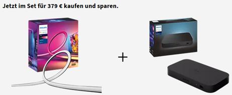 Bild zu PHILIPS Hue Play Gradient 55 Zoll Lightstrip + PHILIPS Hue Play HDMI Sync Box für 379€ vorbestellen (VG: 423,90€) – auch andere Größen verfügbar