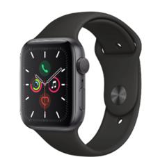 Bild zu Apple Watch Series 5 (44mm) Alu 32GB GPS Sportarmband space grau für 384,99€ (Vergleich: 438,38€)