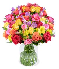"""Bild zu Blume Ideal: Blumenstrauß """"Rosenglück XXL"""" mit 31 Stielen (über 120 Blüten) für 25,98€"""