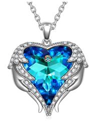 Bild zu Kate Lynn – Geboren um zu Lieben – Halskette (Kristall von Swarovski) in Aquamarin für 10,99€