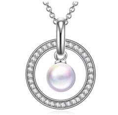 Bild zu PRINCESS NINA Damen Halskette Hüterin der Liebe mit Perle von Swarovski und Schmuckkästchen für 9,99€
