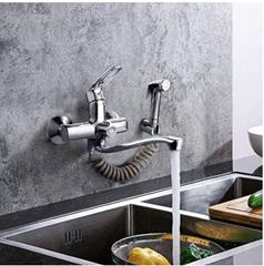 Bild zu Dalmo Küchenarmatur mit Spritzpistole und 2 Wasserstrahlarten sowie schwenkbarem 360°-Auslauf für 42,59€