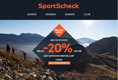 Bild zu SportScheck: bis zu 20% Rabatt auf Outdoor Bestseller