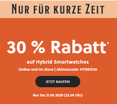 Bild zu Fossil: 30% Rabatt auf Hybrid Smartwatches, z.B. Fossil Collider HR Edelstahl für 153,30€ (Vergleich: 219,43€)