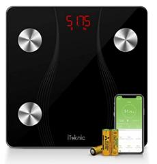 Bild zu iTeknic Bluetooth Personenwaage/Körperfettwaage (BMI, Gewicht, Körperfett, bis 180kg) für 18,99€