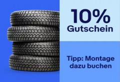 Bild zu eBay: 10% Rabatt auf Reifen (Sommerreife, Winterreifen, Kompletträder, usw.)