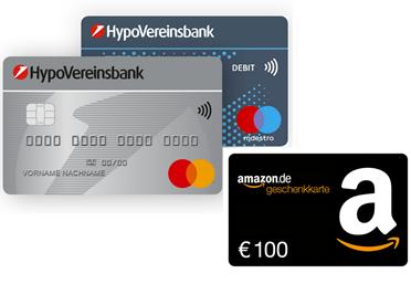Bild zu HypoVereinsbank HVB PlusKonto: 100€ Amazon.de Gutschein Prämie + gebührenfreie Kontoführung (5 Jahre lang) + Kreditkarte
