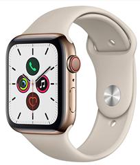 Bild zu Amazon.fr: Apple Watch Series 5 (GPS & Cellular, 44 mm,Edelstahl gold, Sportband) für 559,33€ (Vergleich: 684,79€)