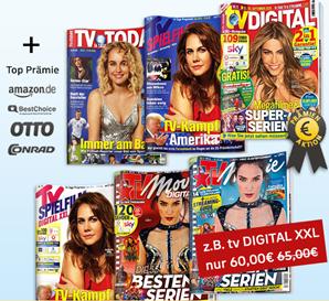 Bild zu Deutsche Post Leserservice: TV Zeitschriften vergünstigt, so z.B. TV Digital XXL für 60€ mit bis zu 60€ Prämie