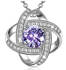 Bild zu Alex Perry Satellite Series Damen Halskette (925 Sterling Silber, Zirkonia-Stein) für 9,99€