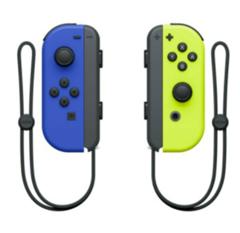 Bild zu 2er Set Nintendo Switch Joy-Con Controller Blau/Neon-Gelb für 59,33€ (Vergleich: 68,87€)