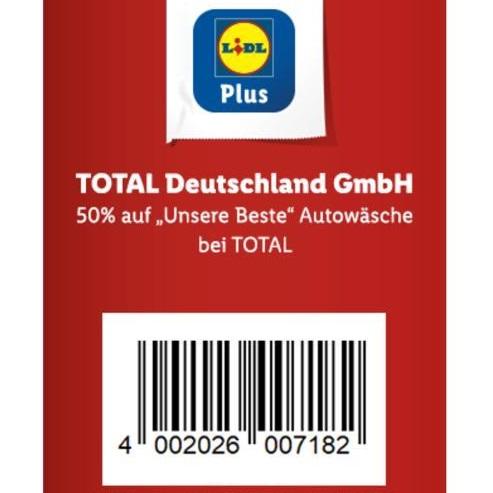 """Bild zu LIDL Plus App: 50% Rabatt auf die """"Unsere Beste"""" Autowäsche bei Total"""