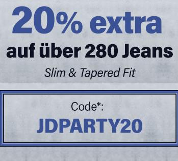 Bild zu Jeans Direct: 20% Extra-Rabatt auf ausgesuchte Slim und Tapered Jeans