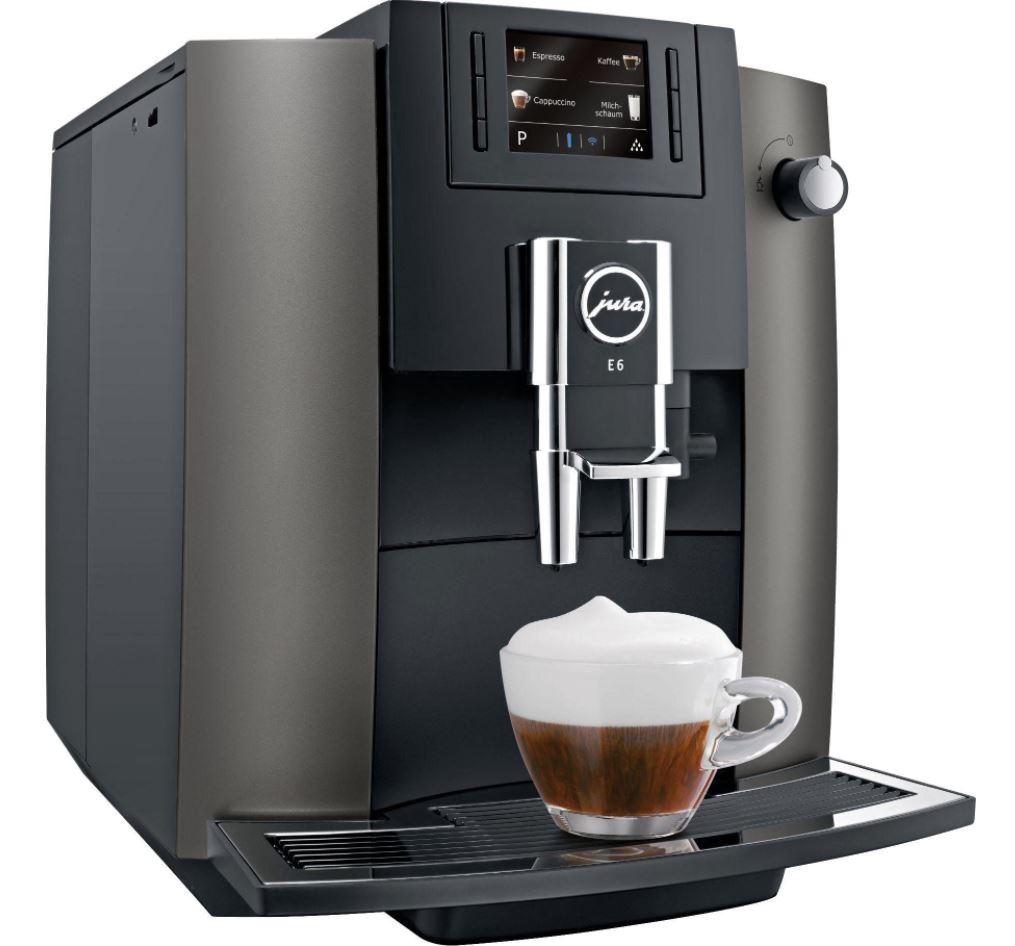 Bild zu JURA Kaffeevollautomat E6 Dark Inox für 634,95€ (VG: 730€)