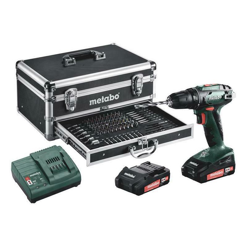 Bild zu Metabo Akku Bohrschrauber BS 18 im Set Mobile Werkstatt 18 V inkl. 2x 2,0 Ah AKKUs und Koffer für 139,90€ (VG: 164€)