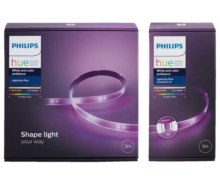 Bild zu MediaMarkt: PREISHAMMER – PHILIPS Hue Light Strip+ 2m + 1m Basis LED Streifen Mehrfarbig für 53,61€ (VG: 79,39€)