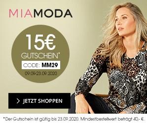 Bild zu MiaModa: 15€ Rabatt auf alle Artikel im Shop (40€ MBW)