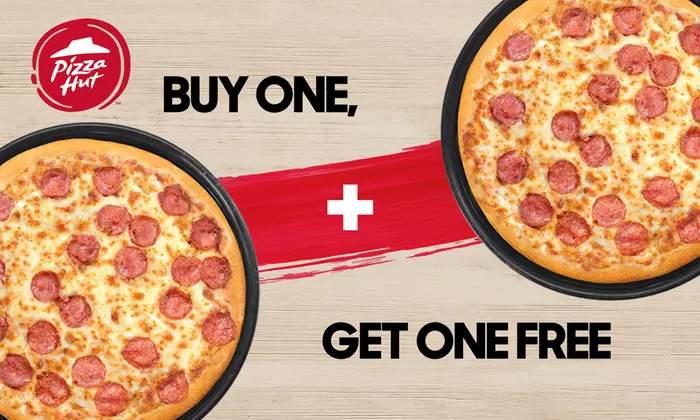 Bild zu Groupon: 2-für-1 Pizza-Angebot auf alle Teigsorten und Beläge bei Pizza Hut für 0,85€