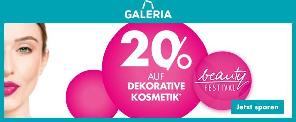 Bild zu Galeria: 20% Rabatt auf dekorative Kosmetik
