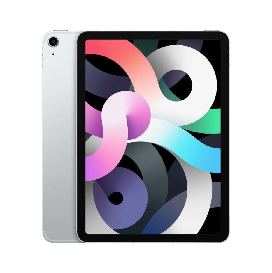 Bild zu APPLE iPad Air Cellular (2020), Tablet, 64 GB, 10.9 Zoll, iPadOS 14, Silber für 719,10€ (VG: 769€)
