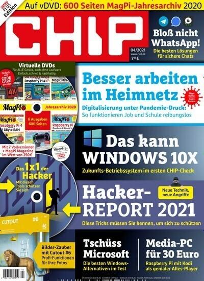 Bild zu Jahresabo CHIP Plus (12 Ausgaben) für 95,40€ inkl. 80€ Amazon.de Gutschein oder 75€ Verrechnungsscheck
