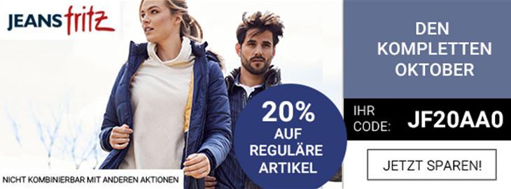 Bild zu Jeans Fritz: 20% Rabatt auf die reguläre Ware