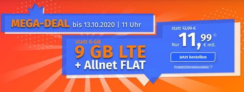 Bild zu PremiumSIM: Tarif (Frist von 3 Monate kündbar) im o2-Netz mit 9 GB LTE Datenflat, SMS und Sprachflat für 11,99€/Monat