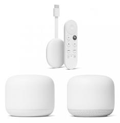 Bild zu Google Nest WiFi Router und Zugangspunkt + Chromecast mit Google TV für 249€ (Vergleich: 316,87€)