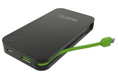 Bild zu NINETEC NT-608 6.000mAh Power Bank mit integriertem Ladekabel (Micro-USB) für 7,77€ (Vergleich: 21,67€)
