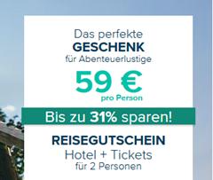 Bild zu Reisegutschein 2021/2022 für Hotel + Freizeitparkticket für 59€/Person