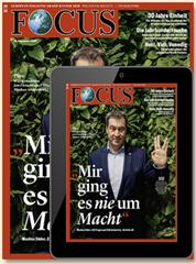 Bild zu Halbjahresabo (26 Ausgaben) des Focus für 135,20€ + 140€ BestChoice Gutschein