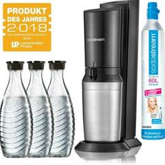 Bild zu SodaStream Crystal 2.0 Wassersprudler inkl. 3x Glaskaraffen & Co² Zylinder für 89,10€