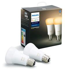 Bild zu Amazon.uk: Doppelpack Philips Hue White Ambiance E27 Bluetooth für ~25,77€ (Vergleich: 37,98€)