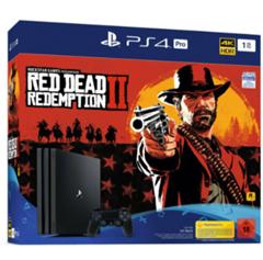 Bild zu [B-Ware] Sony PlayStation 4 (PS4) Pro 1TB + Red Dead Redemption 2 für 224,10€ (Vergleich: 394,22€)