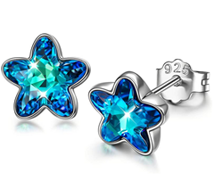 Bild zu DISSONA 925 Silber Ohrringe mit Kristallen von Swarovski für 9,99€