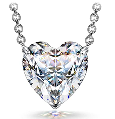 Bild zu [bis 20:55 Uhr] FANCI Halskette-Damen-Silber mit 1,4 Karat Herz Zirkonia von Swarovski für 10,99€