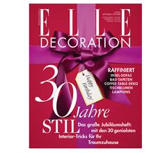 """Bild zu 5 Ausgaben """"ELLE DECORATION"""" zum Preis von 28€ + 25€ Prämie zur Wahl"""