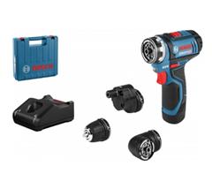 Bild zu Bosch GSR 12V-15 FC Professional Akku Bohrschrauber inkl. Akku, Ladegerät, Zubehör, und Koffer für 130,52€ (Vergleich: 163,90€)