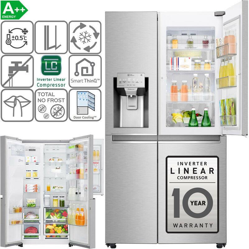Bild zu Side-by-Side Kühl-/ Gefrierkombination LG GSJ961NSZZ für 1.149€ (Vergleich: 1.599,99€)