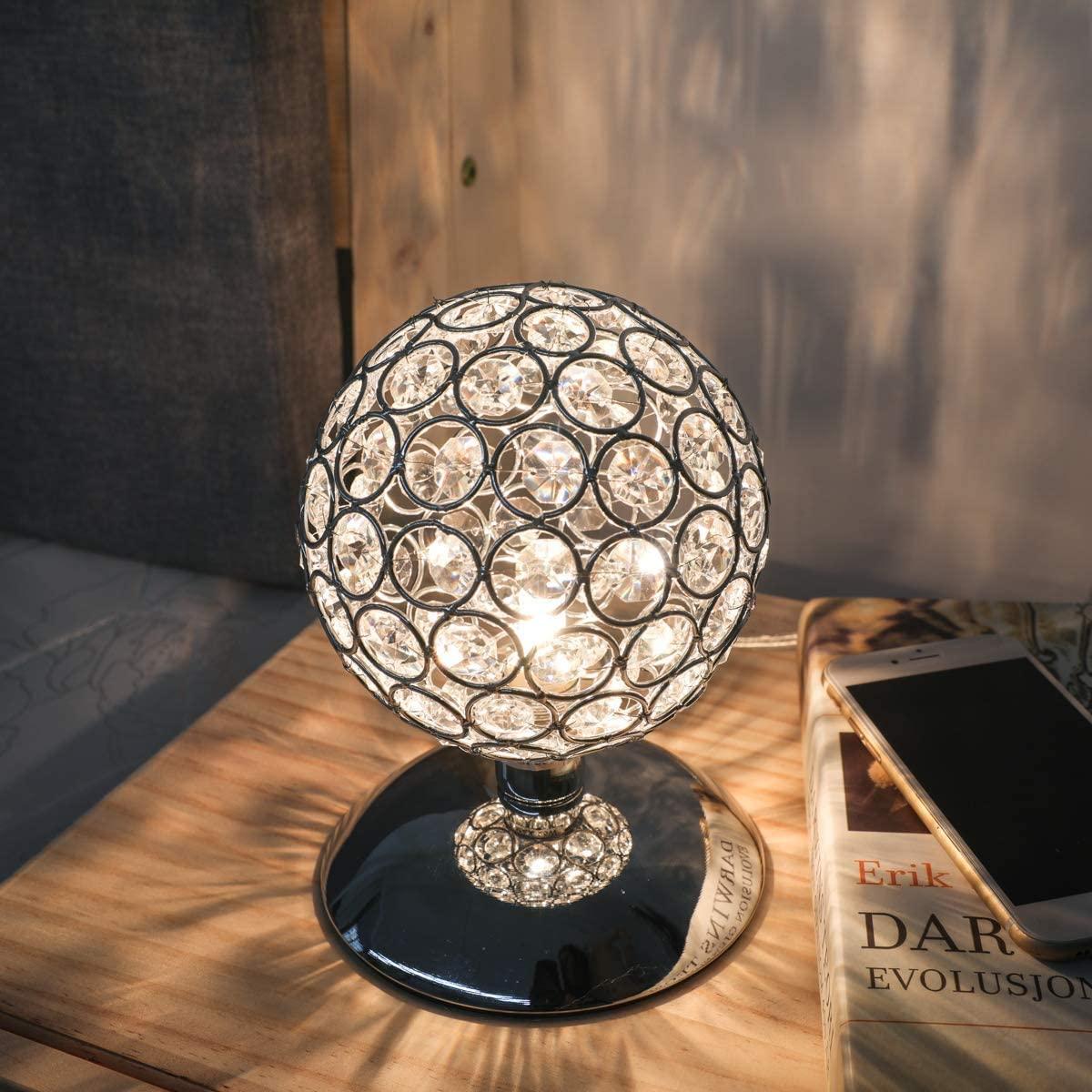 Bild zu KINGSO Kristall Nachttischlampe mit Touch-Dimmer für 14,29€