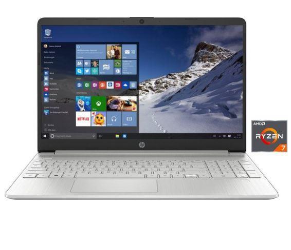 Bild zu HP 15s Notebook mit 15,6 Zoll, Ryzen 7 4700U, 16 GB DDR4, 512 GB SSD für 604,95€ (VG: 755,79€) + 1 Jahr MS Office 365 single gratis